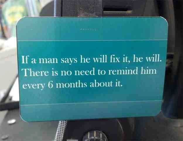 No need to Remind a Man