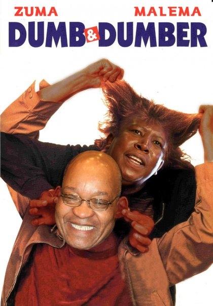 Zuma and Malema Dumb and dumber