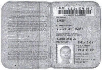 Funny name in South Africa.