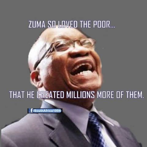 Zuma loves the poor.