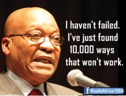 Zuma failed in all ways.