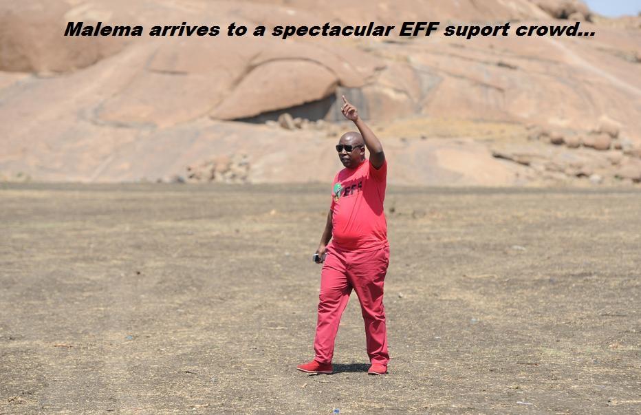 EFF Malema reception…