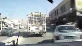 U.S. vehicle runs over everything in Iraq