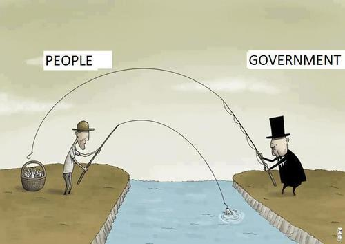 Difference between government and people 'fishing'