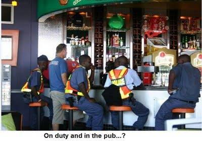 Police on duty in the pub?