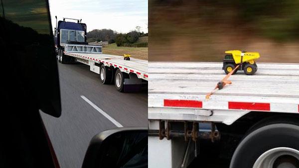 Truck on Truck