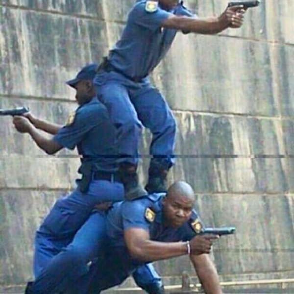 007 gave some training for the SAPS