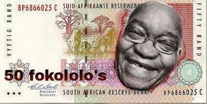 New Rand currency 50 Fokololo