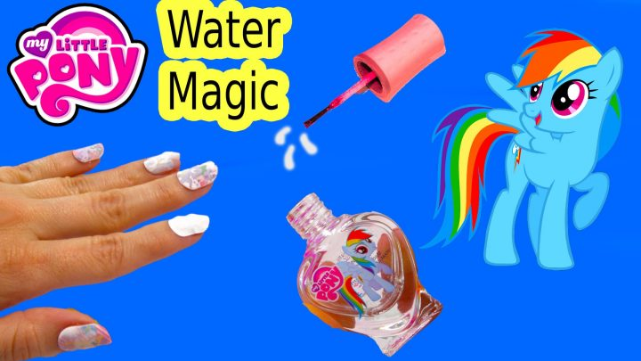 Mlp Water Magic Rainbow Dash Nail Polish Art Kit My Little Pony Toy