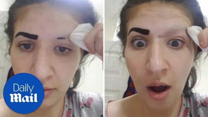 Chinese make-up leads to spectacular eyebrow fail – Daily Mail