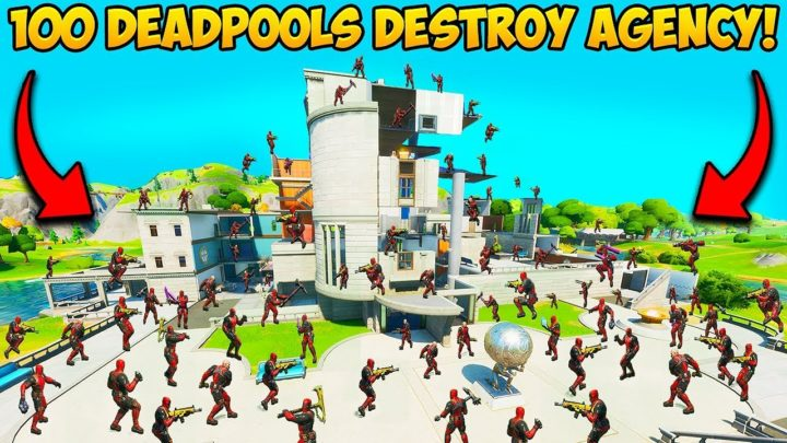 100 DEADPOOLS *DESTROY* THE AGENCY!! – Fortnite Funny Fails and WTF Moments! #888