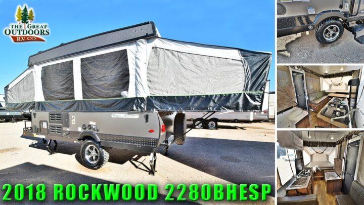 New 2018 Off Road Pop Up ROCKWOOD 2280BHESP Extreme Sports Package Camper RV Colorado Dealer