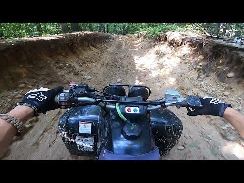 INSANE sport quad EXTREME Enduro trail ride Yamaha warrior 350