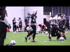 Raiders workout before Chiefs game – Oct 9, 2020